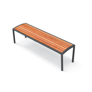Camilla Backless Bench / Wood  by City Design