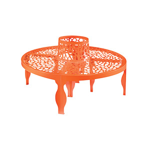 Coral Round Bench by Lab23