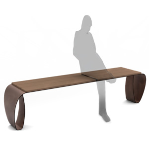 Fluxus Backless Bench by Lab23